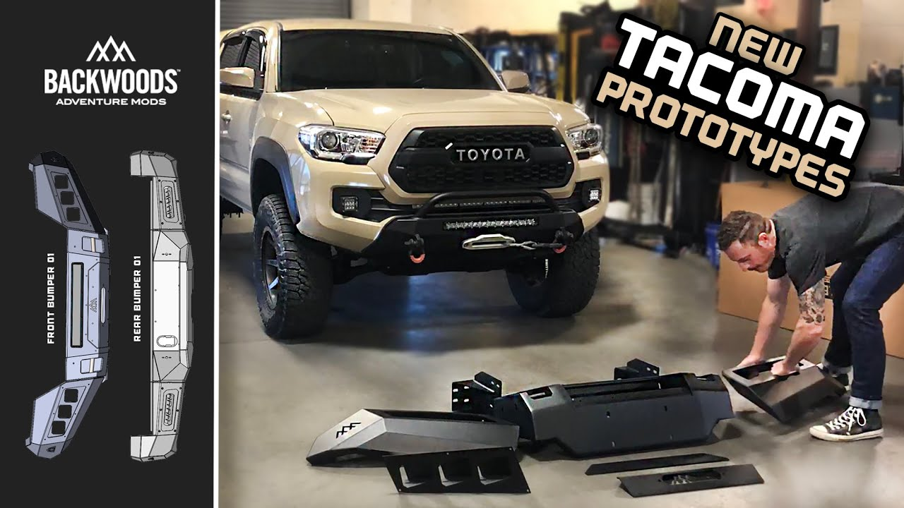HELP ME DESIGN BUMPERS! Backwoods Overland Tacoma Prototypes – Install & Thoughts