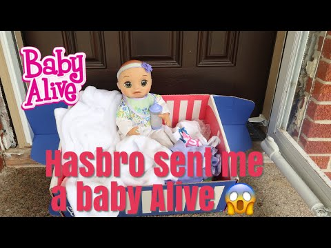 BABY ALIVE Real As Can Be At My Door Step Hasbro Sent Me A baby alive