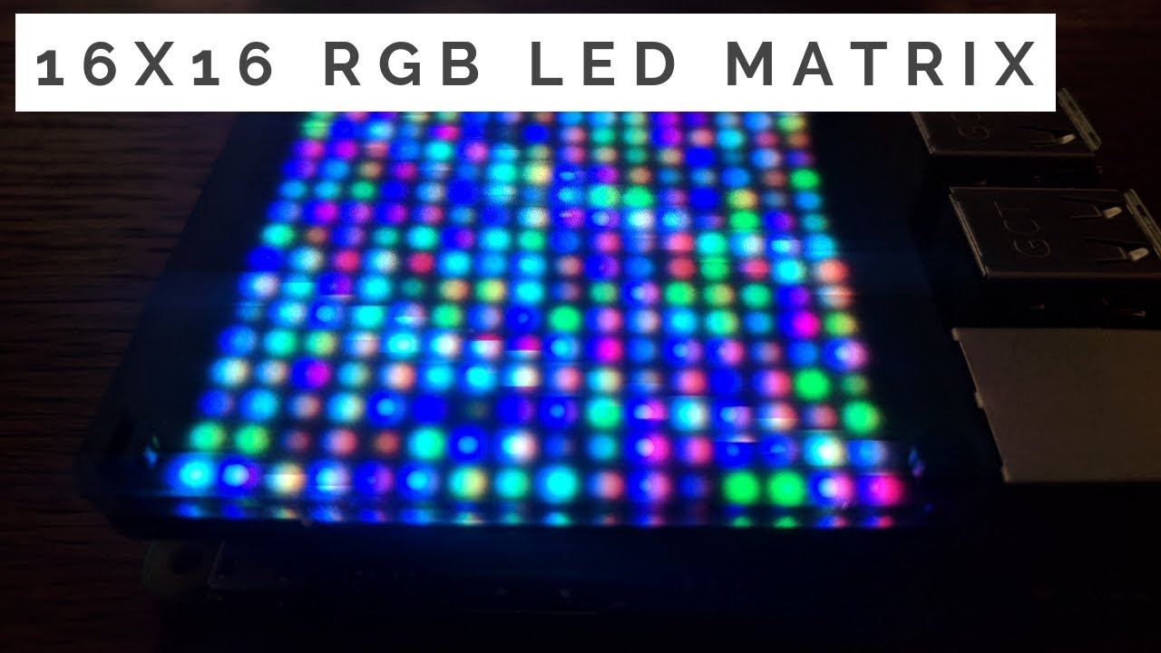 16x16 RGB LED Matrix for the Raspberry Pi