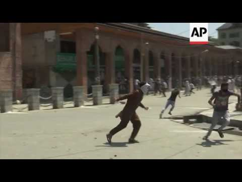 Kashmir police fire gas at anti-India protesters