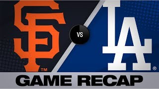 Beaty Seager Power Dodgers To 5 0 Win Giants Dodgers Game Highlights 9 8 19