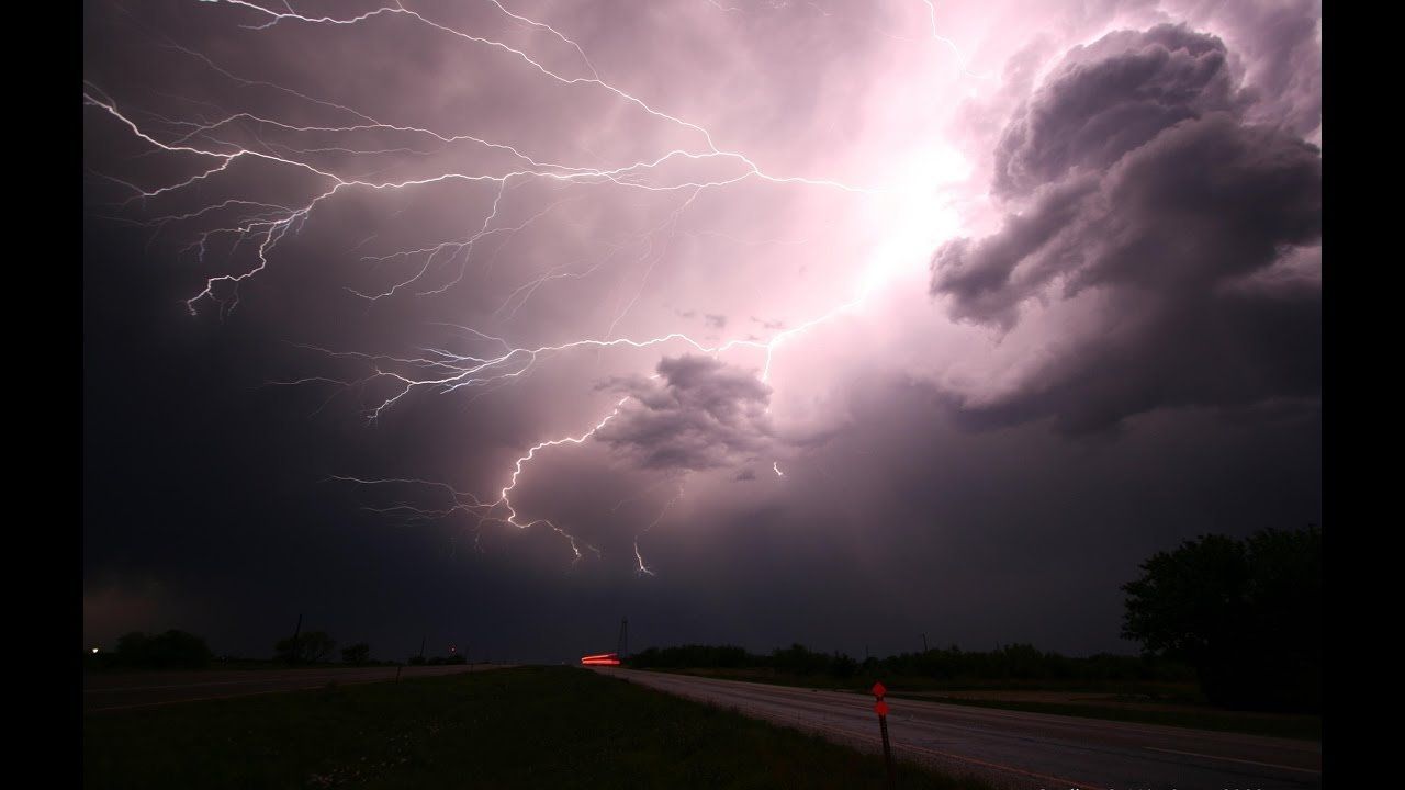 Torrential Rains with Thunder and Lightning Storm - YouTube
