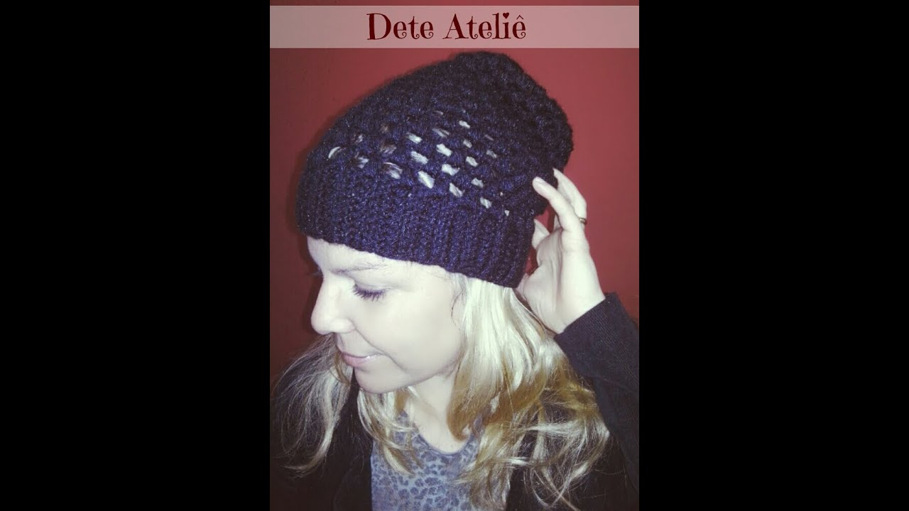 Gorro em croch com grfico t Crochet Knit hats and da6060b8921