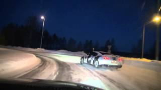 Ice Ricer Nissan GT-R on the way to drifttrack: #2 roundabout