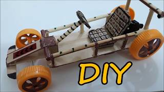 How to make a Drag Racing Car Powered by Spring
