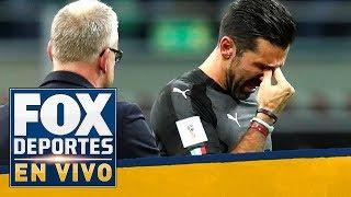 Buffon no pudo controlar las lágrimas