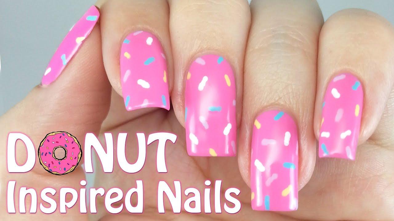 Easy Donut Nails! - YouTube