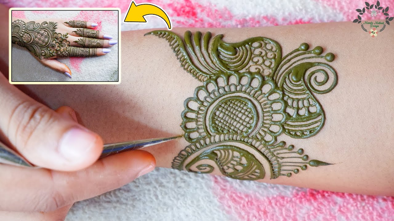 Stylish Mehndi Design For Back Hand | Simple Back Hand Mehndi Designs | Mamta Mehndi Design
