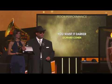 "Leonard Cohen won Best Rock Performance | ""You Want It Darker"" | 60th Annual Grammy Awards Mp3"