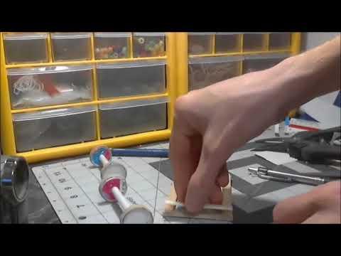 buiding paper model vw bug part 3