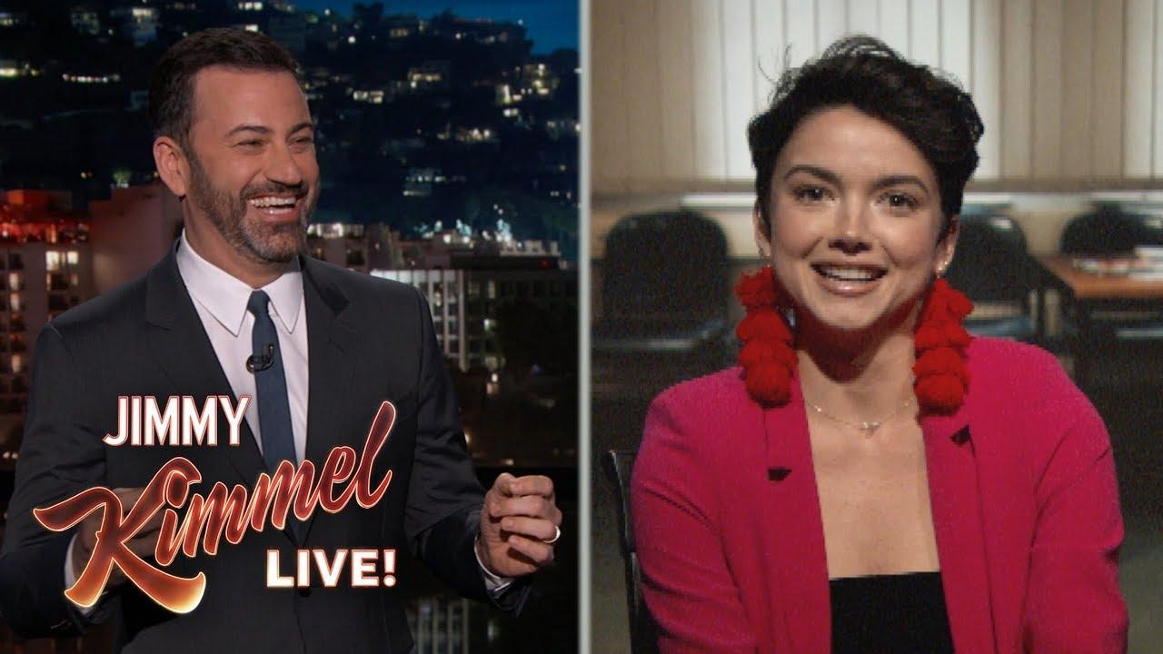 Jimmy Kimmel Interviews Bekah M From The Bachelor Youtube