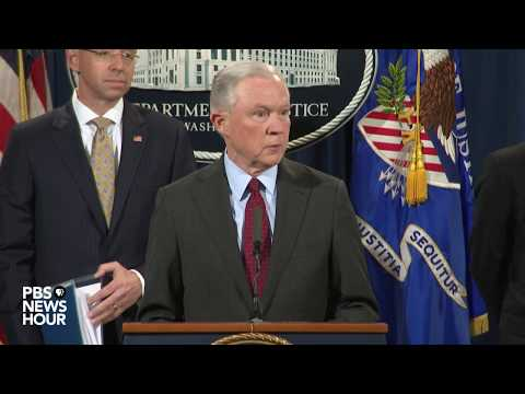 Justice Dept. and FBI officials announce cybercrime enforcement action