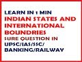 Tricks for Indian States sharing boundaries with neighbouring countries @ Mahalakshmi Academy