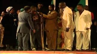 Boy born crippled walks in Bishop Kakobe Zambia Crusade