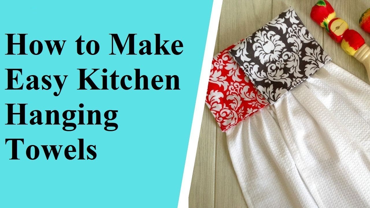 Cutesy up your kitchen towels tutorial.