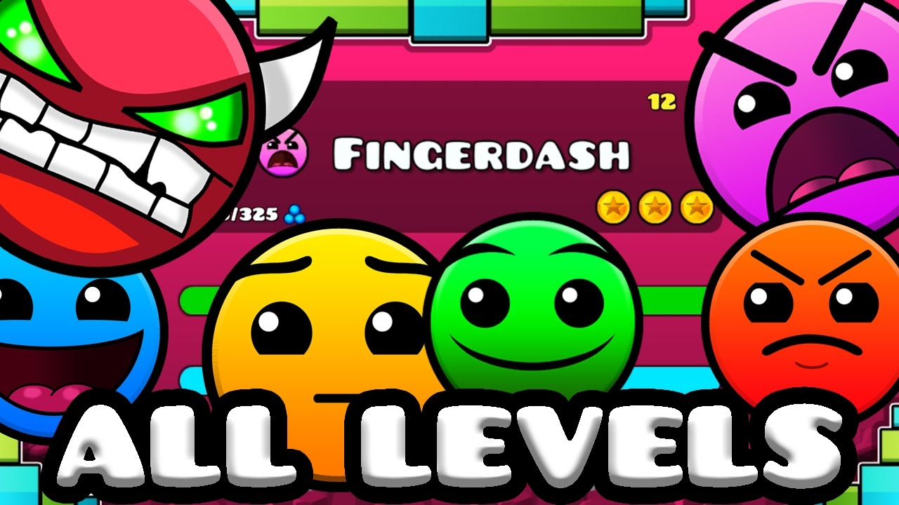 Geometry Dash 2 1 All Levels 1 21 100 Complete Late