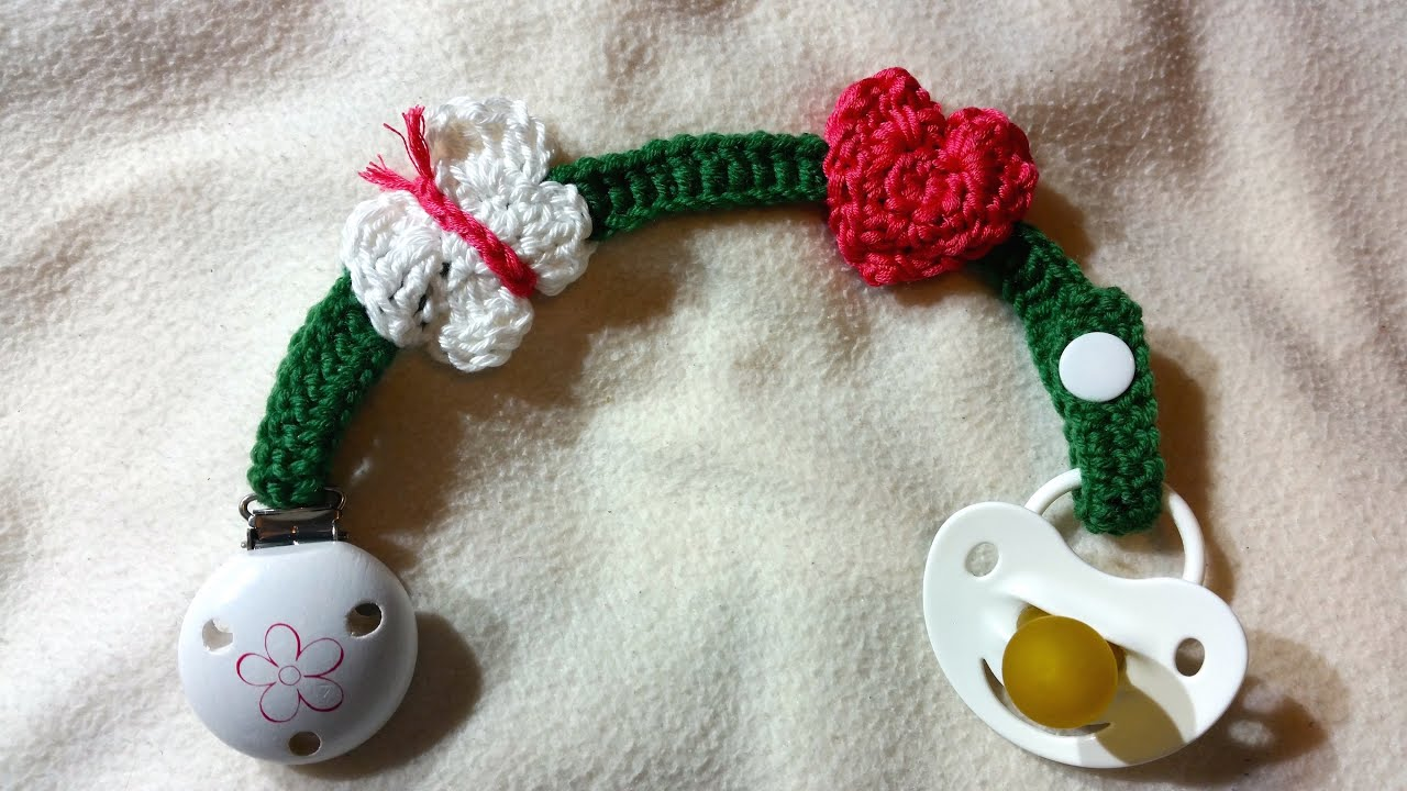cadena de chupete para beb s en crochet by berlincrochet youtube. Black Bedroom Furniture Sets. Home Design Ideas