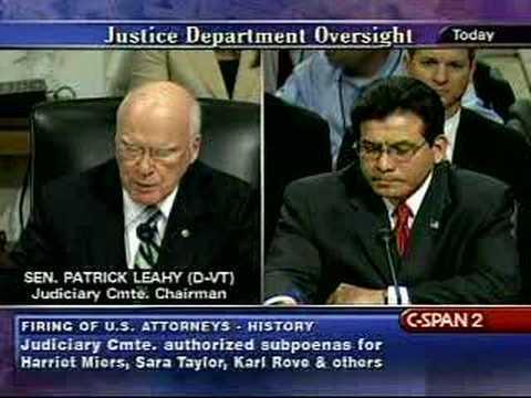 Senate Judiciary Committee with Alberto Gonzales-7/24/07 Pt1