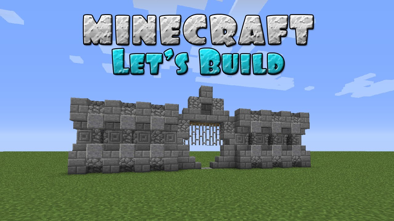 Minecraft Let S Build Simple Castle Wall And Gateway Youtube
