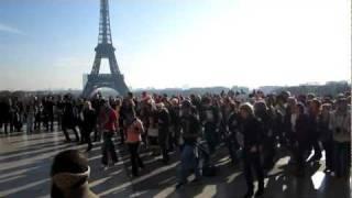 lmfao flash mob in paris