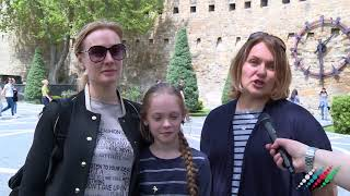 Российский туристы в Баку