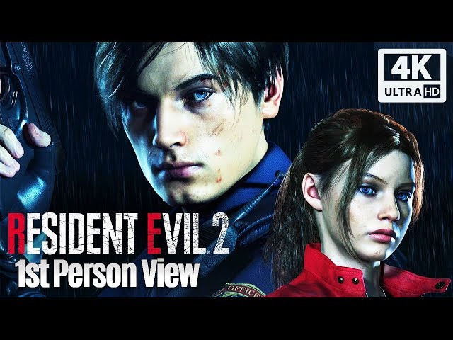 RESIDENT EVIL 2 Remake All Cutscenes Leon & Claire 1st Person View (Game Movie) 4K 60FPS