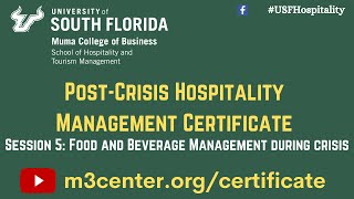 Post-Crisis Hospitality Management Certificate- Session 5