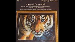 """Вышивка крестом: СП """"В мире животных"""" 6 этап Голубоглазый тигр"""