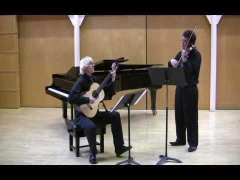 PAGANINI (arr.Pasieczny) SONATA No.1 for guitar & violin | Centone di Sonate PASIECZNY - WATSON Duo