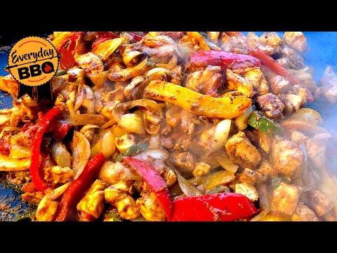 Marinated Chicken Fajitas - Blackstone Griddle - How To Make Chicken Fajitas Recipe - Everyday BBQ