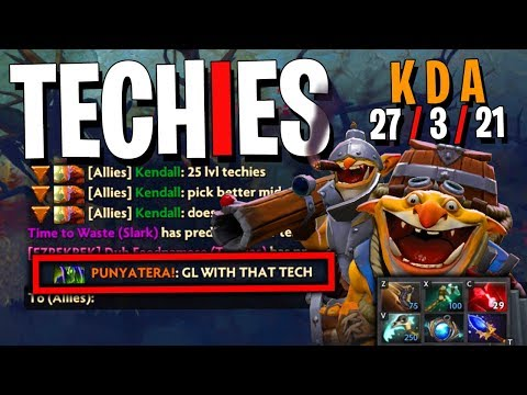 """GL WITH THAT TECH"" - Techies DotA 2 (KDA 27 3 21)"