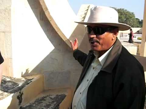 Jantar Mantar astronomical and astrological observatory in Jaipur, Rajisthan State, India