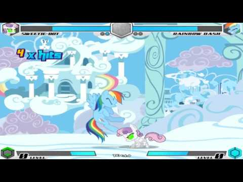 My Little Pony Fighting Is Magic Tribute Edition Sweetie Bot Playthrough