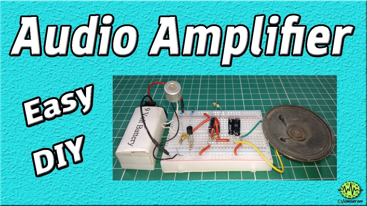 Audio Amplifier Circuit Using 555 Timer Easy Electronic Project Lm386 Diagram Diy