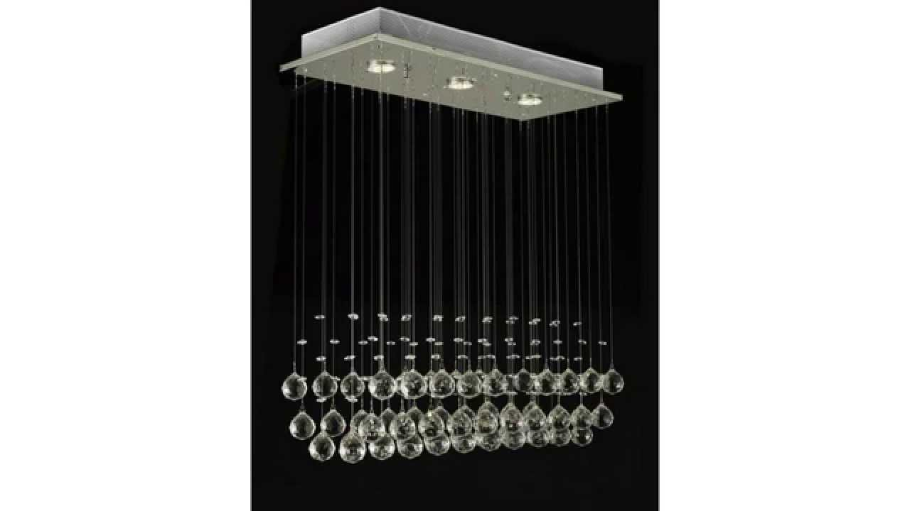 Modern chandelier rain drop lighting crystal ball fixture pendant modern chandelier rain drop lighting crystal ball fixture pendant ceiling lamp youtube arubaitofo Images