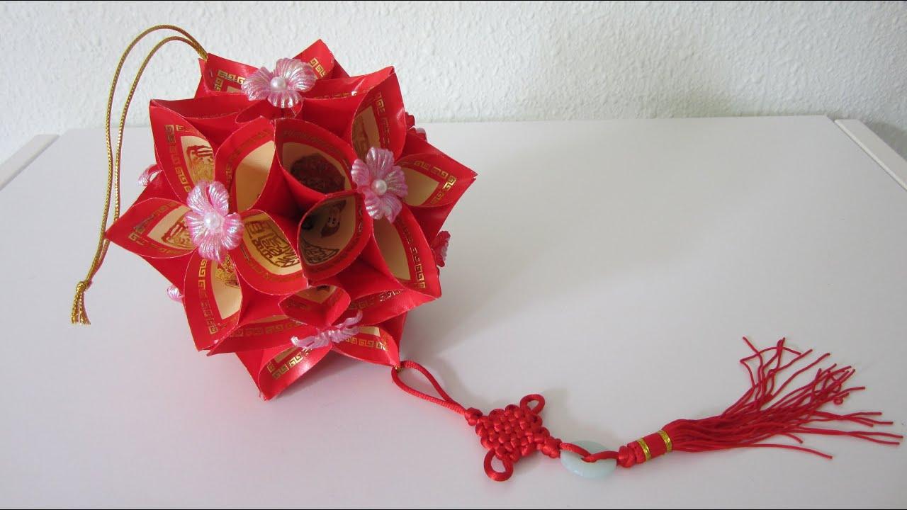 Cny Tutorial No 6 How To Make A Decorative Flower Ball