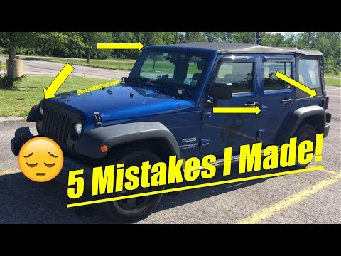 Small Mistakes I Made Buying My Jeep Wrangler Watch Before Buying A Jeep Wrangler
