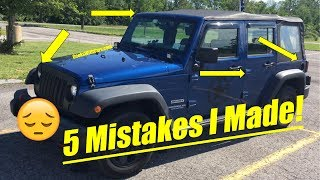 5 Small Mistakes I Made Buying My Jeep Wrangler! | Watch before buying a Jeep Wrangler!