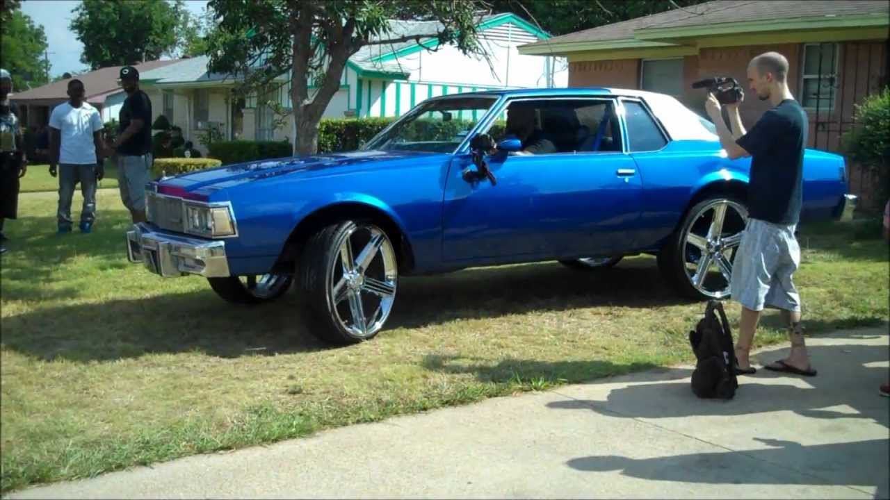79 Chevy Caprice 2dr Wet ICEY BLUE Paint on 26s fibergl FULL ...
