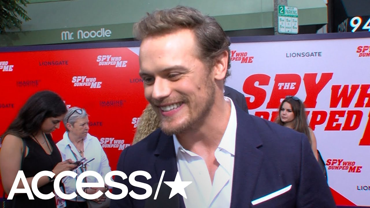 The Spy Who Dumped Me's Sam Heughan On Stunts, Laughing With Mila Kunis &  Kate McKinnon, 'Outlander'