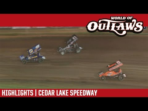 World of Outlaws Craftsman Sprint Cars Cedar Lake Speedway July 6, 2018 | HIGHLIGHTS