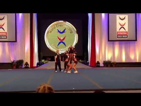 Team Norway - All Girl Group stunt  ICU world cheerleading Championship 2013