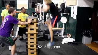 "60"" Box Jump (knee hip pop) 38"" - 60"""