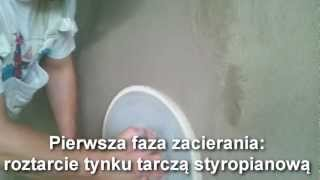 Tynki cementowo wapienne zacierane na gładko, wykonane pod malowanie. Tynk-Tech.Kreisel 500.Kraków