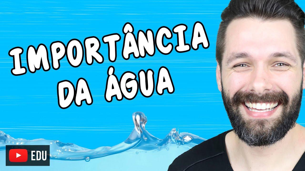 A IMPORTÂNCIA DA ÁGUA PARA OS SERES VIVOS | Biologia com Samuel Cunha