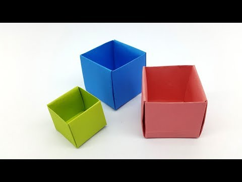 How to make a Paper Box - Origami Box easy making DIY Tutorial