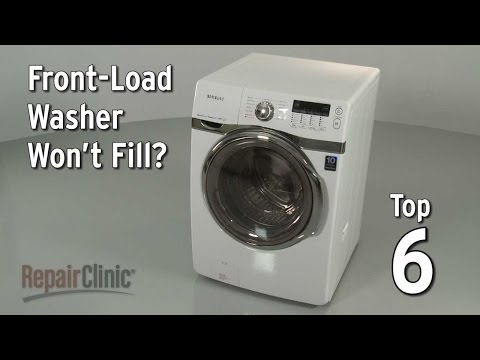 Top 6 Reasons Front-Load Washer Won't Fill?