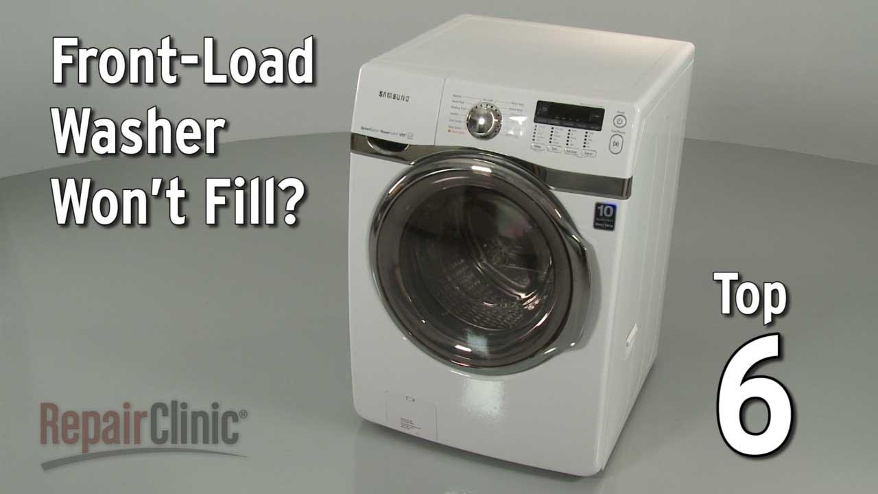 FrontLoad Washer Won't Fill — Washing Machine Troubleshooting  YouTube