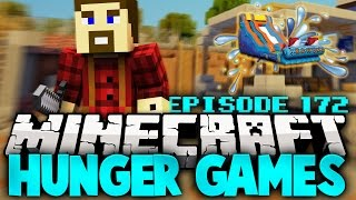"Minecraft Hunger Games: ""WATER SLIDES!"" - Ep 172"