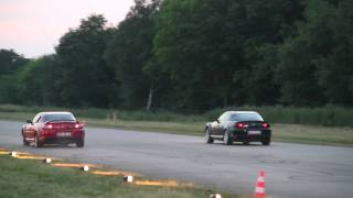 Mazda RX-8(191PS) VS. Mazda RX-8 (231PS) Drag 1/4 Mile @ German Race Wars 2010